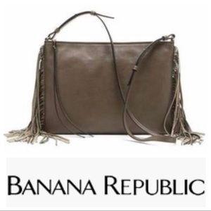 Banana Republic Fringe Trim Crossbody Bag